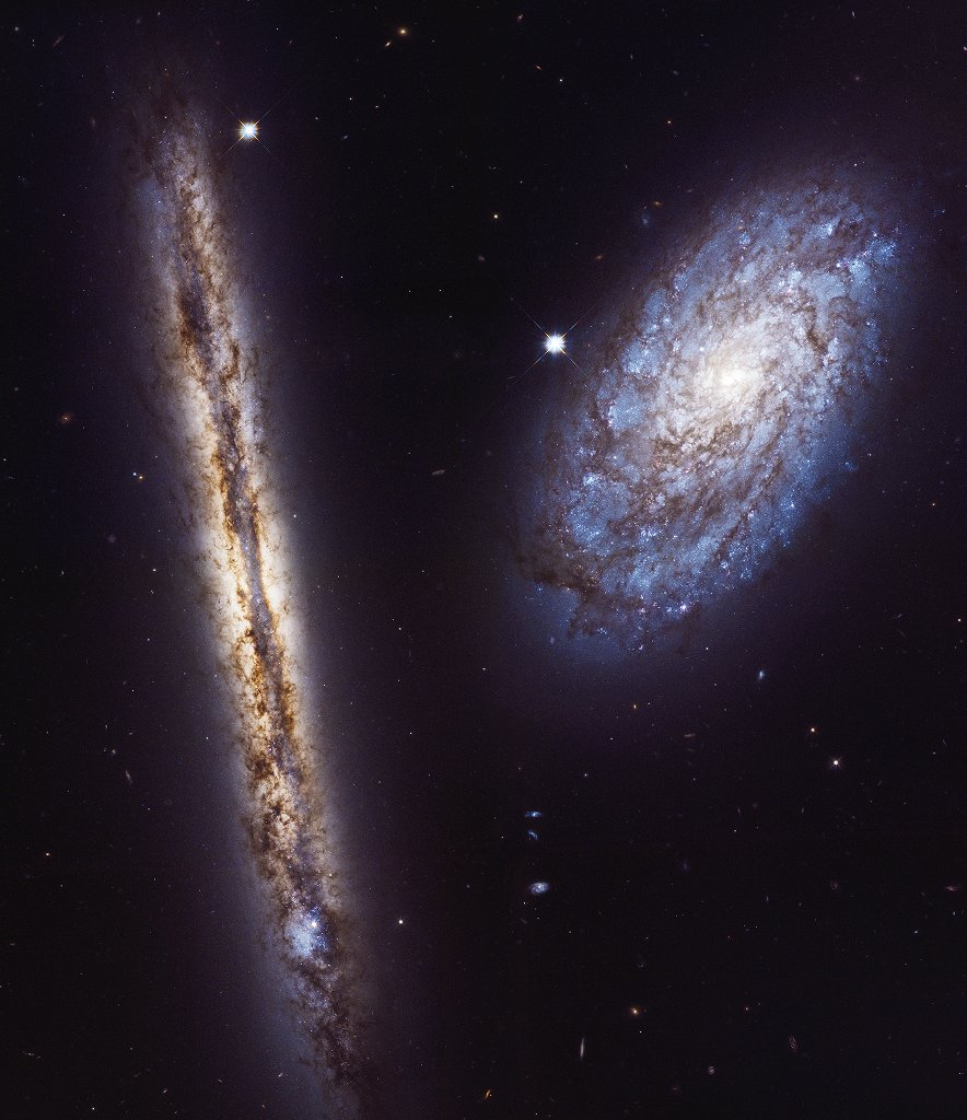 NGC 4302 and NGC 4298 - Unraveled Edition #20 - A Collection From The World Wide Web