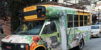 A lady wanting to convert a school bus into a rolling eco-kitchen - Hippohelp
