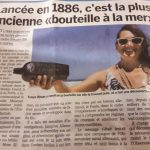 French newspaper article about The Oldest Known Message in a Bottle