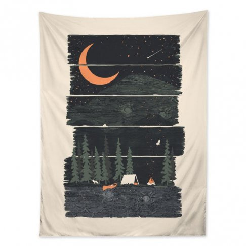 Outdoor Nature Wall Tapestry, Wilderness Forest Wall Hanging, Starry Night Wall Sheet, Camping...jpg